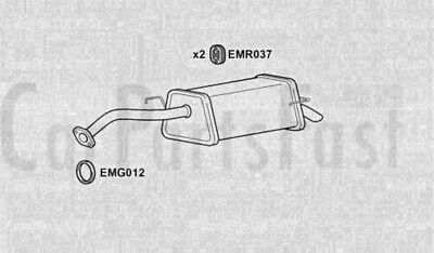 Exhaust Middle Box to fit NISSAN Note 1.4 Petrol MPV 04//2009 to 03//2014 Euro 4
