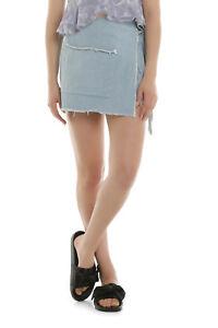NEW-Lulu-amp-Rose-Bobbi-Denim-Skirt-Lt-Blue