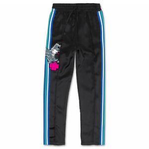 Pink Dolphin Para Hombre Tomar Vuelo Pantalones De Pista Negro Deportes Gym Ropa Apparel Ebay