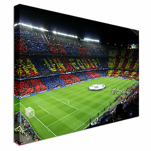Image Is Loading FC Barcelona Pitch Football Canvas Wall Art Prints