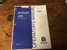 New Holland 472 Haybine Mower Conditioner Operators Manual 1988