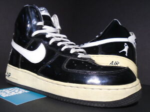 Details about 2002 NIKE AIR FORCE 1 SHEED HIGH RASHEED WALLACE BLACK WHITE OG 302640 011 9.5