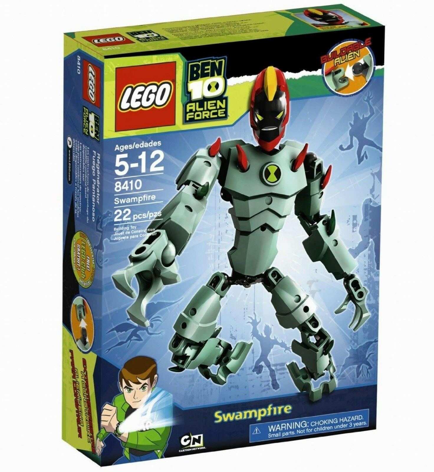 Lego Ben 10 Alien Force Swampfire NEUF  8410 voituretoon Network 22 pieces  obtenir la dernière