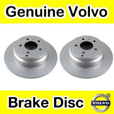 Genuine Volvo Rear Brake Discs And Pads New Shape S80 V70 Solid Brake Disc