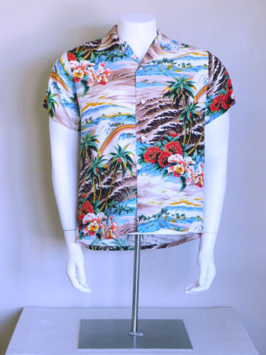 vtg 50s tropical surf hawaiian rockabilly japan HA