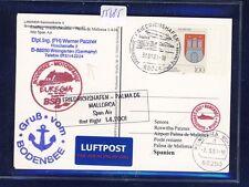 55685) SPAN AIR FF Friedrichshafen - Palma Spanien 1.4.01, Karte Schiffspost