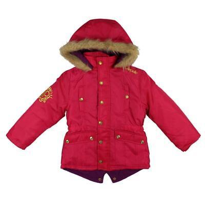 Kids Girls Pelle Pelle 3//4 Nylon Snorkel Jacket pink