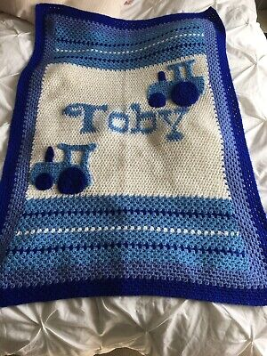 Personalised Baby Blanket Tractor Design choice of blanket colours
