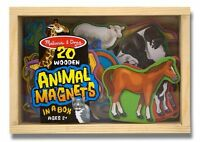 Melissa And Doug 20 Animal Magnets In A Box , New, Free Shipping