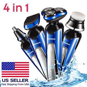 4-IN-1-Electric-Hair-Cut-Clipper-Beard-Shaver-Machine-Razor-Nose-Trimmer-Set