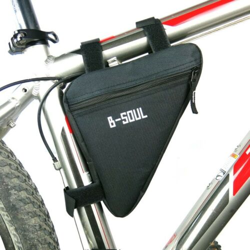 Large Bicycle Front Frame Triangle Storage Bag Cycling Bike Tube Pole Pouch UK