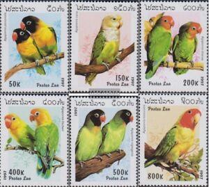 Laos-1564-1569-kompl-Ausg-postfrisch-1997-Papageien