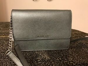 f40d657f6a4c Image is loading NWT-Michael-Kors-Leather-Large-Gusset-Crossbodies-Purse-