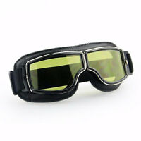 For Harley Leather Vintage Scooter Goggles Pilot Glasses Retro Helmet Driving Zn