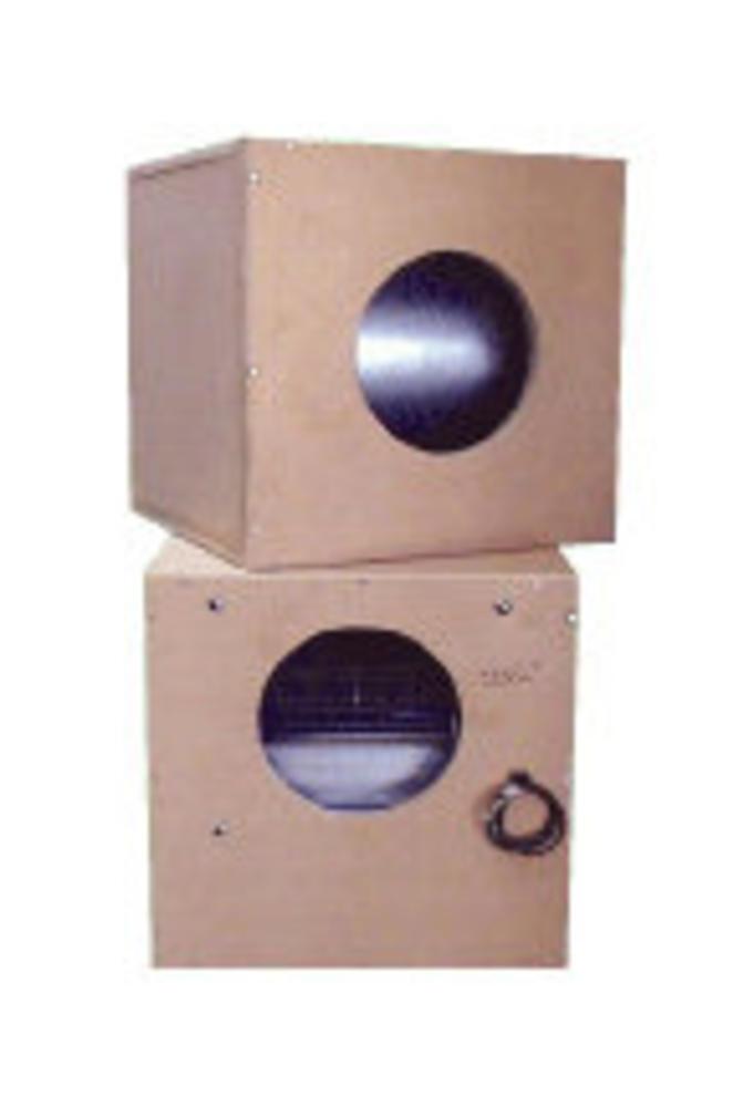 Lüfterbox 1500m³ h im MDF Kasten Innen mit Schaumstoffnoppen Schallisolier