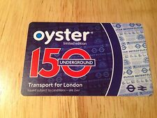 2013 LIMITED EDITION OYSTER CARD 150 YEARS RARE COLLECTORS ITEM