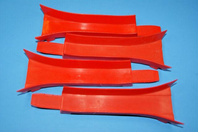 1969 REDLINE Extenders MATTEL HOT WHEELS ORANGE TRACK Accessories 9.5 inches