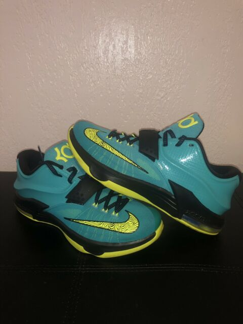low priced 980c3 063c4 Nike KD 7 VII Hyper Jade/Blue/Volt Kevin Durant Shoes (Size: 8) 653996-370