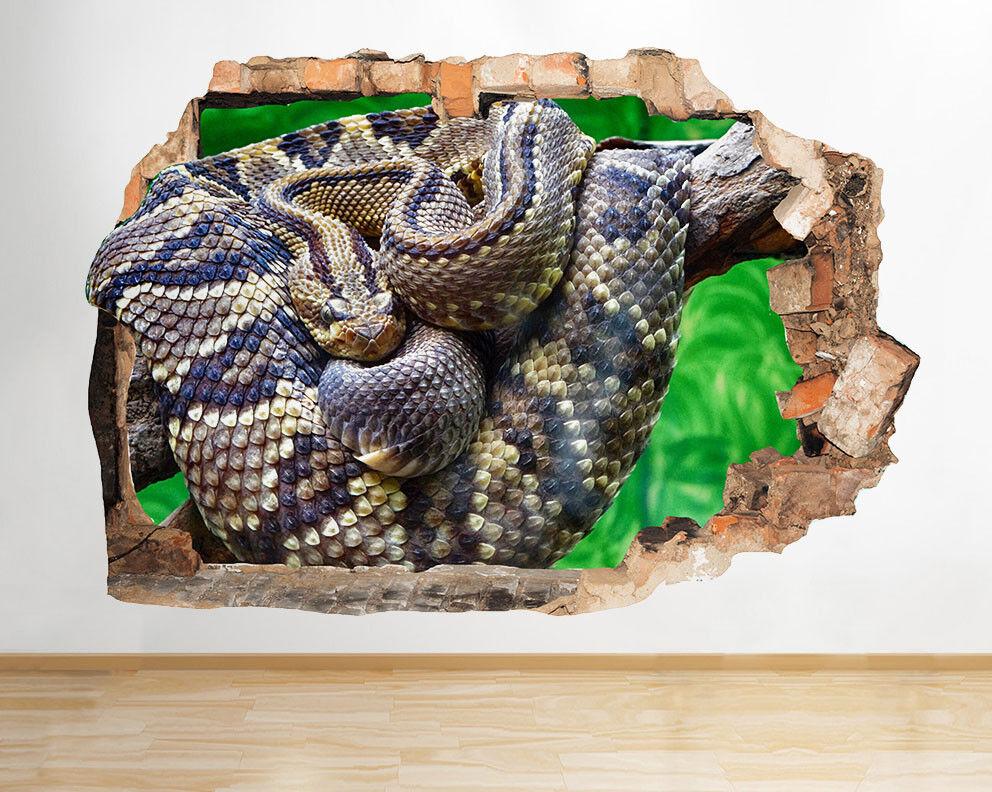 G362 serpent Python Direction garçons cool Autocollant Chambre 3D enfants Vinyle enfants 3D a05c06