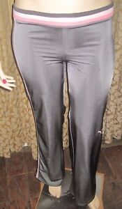 Puma-Size-Large-Shiny-Gray-with-Pink-Athletic-Pants