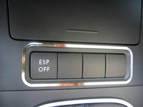 D VW Touran Chrom Rahmen für Schalter ESP Edelstahl poliert
