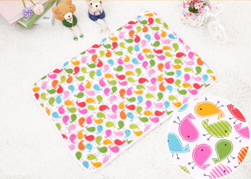 Cotton Baby Changing Pad Travel Cover Burp Waterproof Urine Mat Color Random ZN