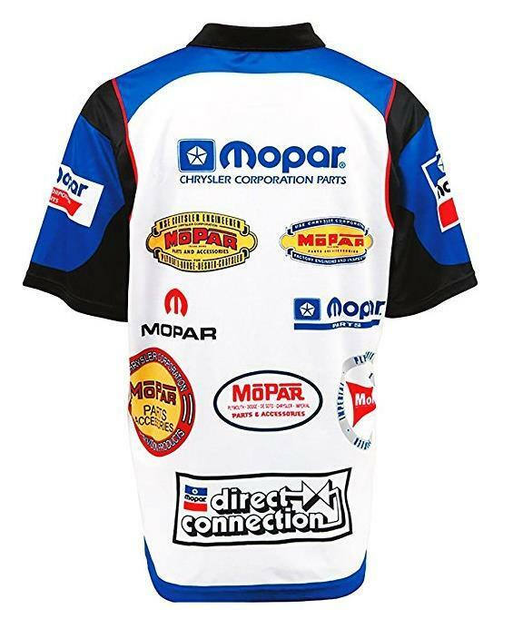 MOPAR PIT SHIRT SHIRT SHIRT OFFICIAL LICENSED Mechanic Camicia a maniche corte Crew CHRYSLER DODGE Hemi a06071