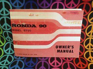 honda st90 owners manual reproduction ebay rh ebay com honda st 90 workshop manual honda c90 service manual download