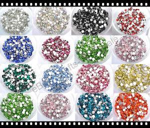 10Gross 1440pcs Top Quality Czech Crystal Rhinestones Flatback Non - Hotfix Pick