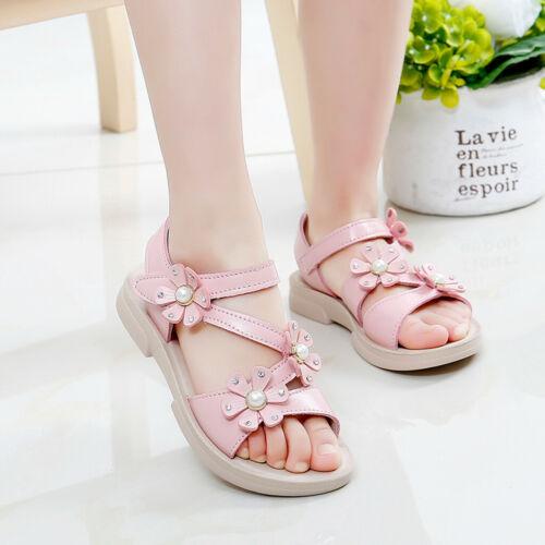 Kids Girls Toddler Children Casual Flower Sandals Summer Beach Princess Shoes
