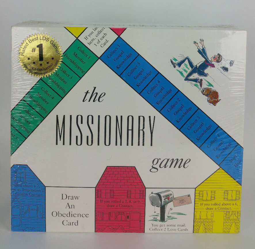NEW SEALED The Missionary Board Game - LDS Mormon FHE Mutual - Family Game 1995
