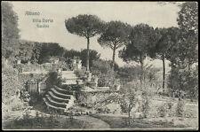 cartolina ALBANO LAZIALE villa doria - giardini