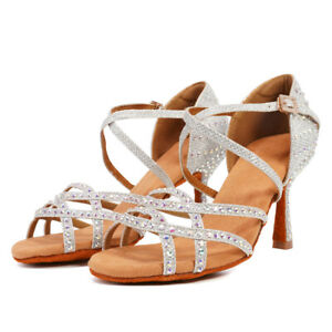 NEW-INTERNATIONAL-LATIN-STANDARD-DIAMOND-DANCE-SHOES-GIRLS-WOMEN-LADIES-HEELED
