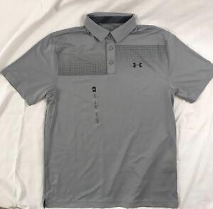 653de2592 Under Armour Men's Loose New Tech Golf Polo Shirt Gray 1311009 Size ...