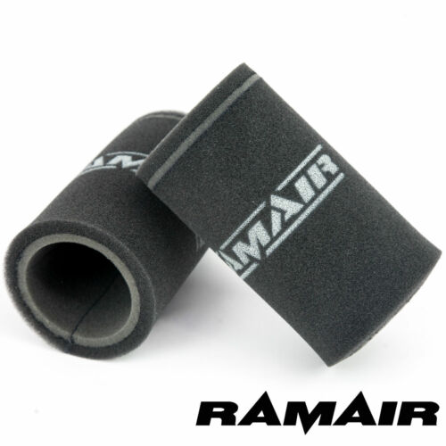 RAMAIR 2 x Single Carb Velocity Stack Foam Sock Air Filters Dellorto DHLA /& DRLA
