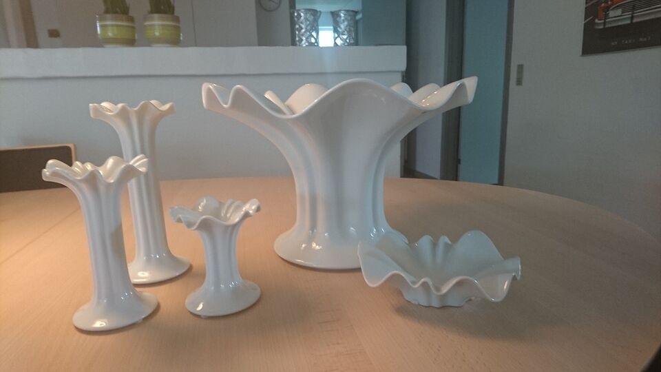 Porcelæn, bordskå, lysestager,lille assiet