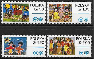 Briefmarken Liefern Unicef-jahr Des Kindes/ Polen Minr 2603/06 **