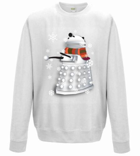 Dr Who Inspired Dalek Bonhomme De Neige Nouveauté Noël Pull Style Sweatshirt Kids