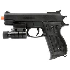 SPRING AIRSOFT PISTOL LED LASER SIGHT FLASHLIGHT HAND GUN AIR w/ 6mm BBs BB