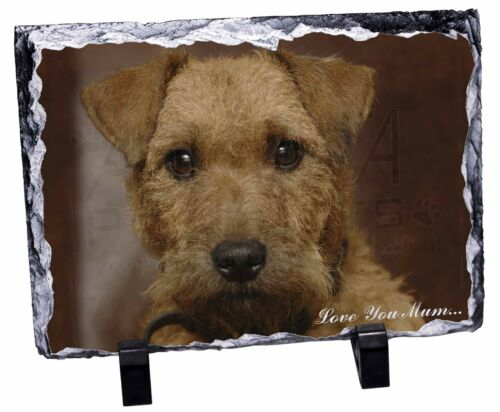 Lakeland Terrier Dog 'Love You Mum' Photo Slate Christmas Gift Orna, ADLT2lymSL
