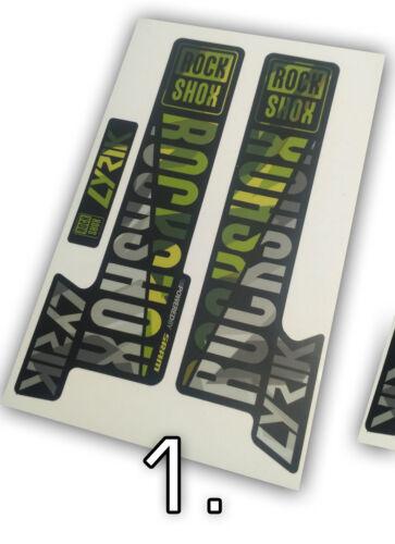 Rock Shox Lyrik custom camo decals