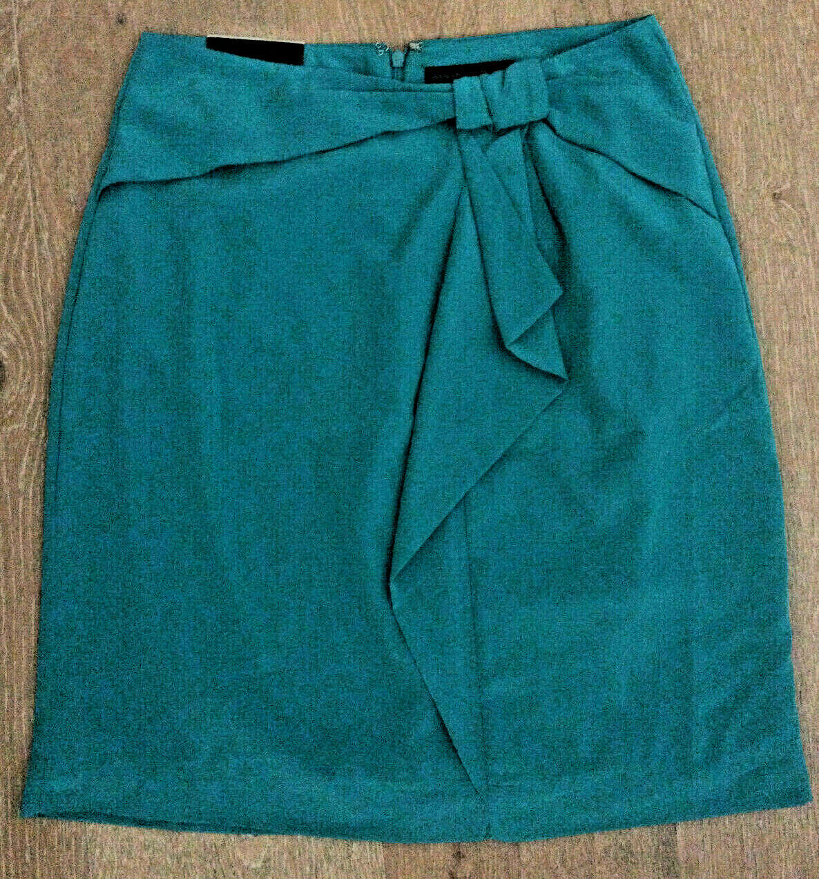 BANANA REPUBLIC Green Pencil Skirt With Bow Woman's Size 0 Polyester Retail  65
