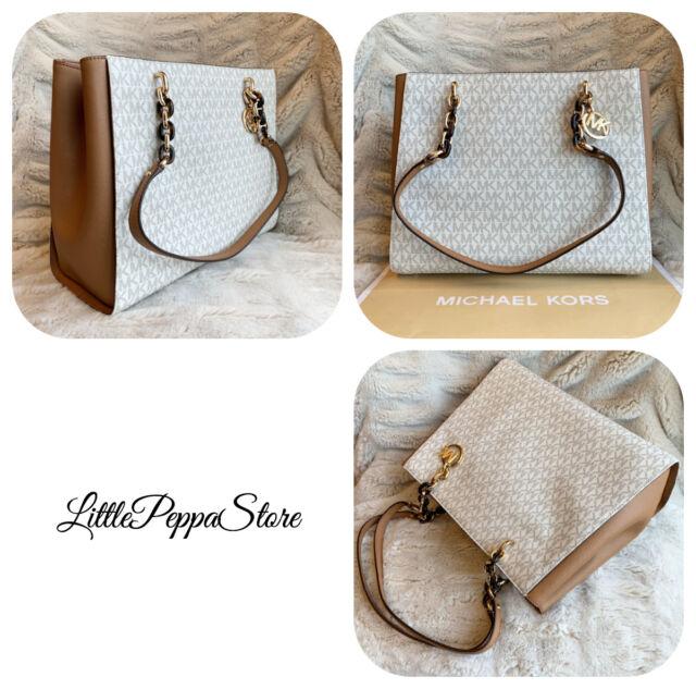 3f0b171a40f1 Authentic Michael Kors Sofia Large Tote Shoulderbag Handbag Vanilla ...