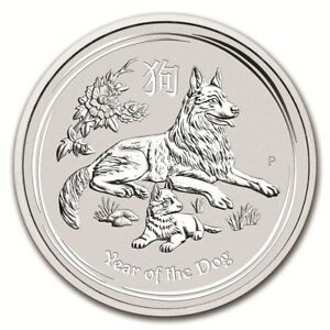 AUSTRALIE-50-Cents-Argent-1-2-Once-Annee-du-Chien-2018-Silver-coin-Year-Dog