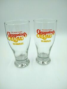 Vintage-Germaine-039-s-Luau-Hawaii-Beer-Glasses-034-Too-Good-To-Miss-034-Beer-Stein-x2