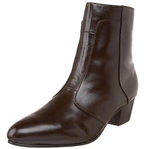 Giorgio Brutini CALLOWAY Mens Dark Brown 805752 Side Zip Cuban Heel ... 14fc18e10d5