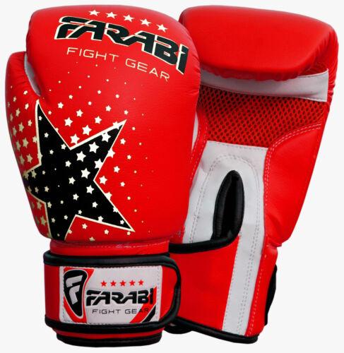 Farabi Starlux Series Kids Boxing MMA Muay Thai Sparring Punching Gloves 6-OZ