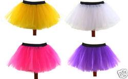 Tütü Tutu Ballettrock XS bis XXLTüllrock Petticoat Ballett Minirock Ballettkleid