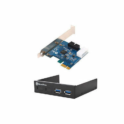 Silverstone FP36B-E USB 3.0 Hard Drive Mount with 19-Pin Internal Adapter Cable