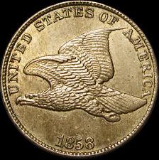 1858 Flying Eagle Cent Penny  -- GEM BU++ Condition NICE -- #R820